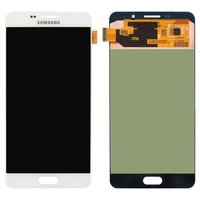 LCD for Samsung A7100 Galaxy A7 (2016), A710F Galaxy A7 (2016), A710FD Galaxy A7 (2016), A710M Galaxy A7 (2016), A710Y Galaxy A7 (2016) Cell Phones, (white, with touchscreen)
