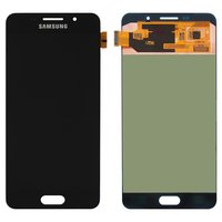 LCD for Samsung A7100 Galaxy A7 (2016), A710F Galaxy A7 (2016), A710FD Galaxy A7 (2016), A710M Galaxy A7 (2016), A710Y Galaxy A7 (2016) Cell Phones, (black, with touchscreen)