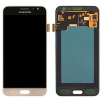 LCD for Samsung J320H/DS Galaxy J3 (2016) Cell Phone, (golden, with touchscreen)