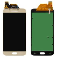 LCD for Samsung A800F Dual Galaxy A8 Cell Phone, (golden, with touchscreen)