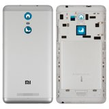Battery Back Cover for Xiaomi Redmi Note 3 Cell Phone, (white, silver, original (PRC), with side button)