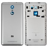 Battery Back Cover for Xiaomi Redmi Note 3 Cell Phone, (silver, black, original (PRC), with side button)