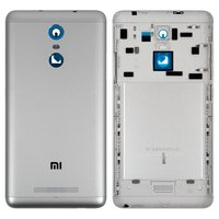 Battery Back Cover for Xiaomi Redmi Note 3, Redmi Note 3 Pro Cell Phones, (grey, original, with side button)