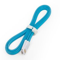 Cable de datos USB para celulares Apple iPhone 5, iPhone 5C, iPhone 5S, iPhone 6, iPhone 6 Plus, iPhone 6S, iPhone 6S Plus, iPhone SE; tablet PC Apple iPad 4, iPad 5 Air, iPad Air 2, iPad Mini, iPad Mini 2 Retina, iPad Mini 3 Retina, azul