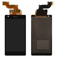 LCD for Sony D6563 Xperia Z2a Cell Phone, (black, with touchscreen)