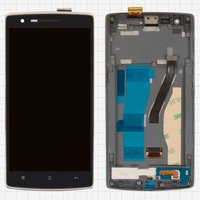 LCD for OnePlus One Cell Phone, (black, with touchscreen, with front panel)