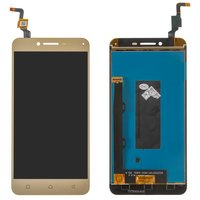 LCD for Lenovo A6020a46 Vibe K5 Plus, Lemon 3 Cell Phones, (golden, with touchscreen)