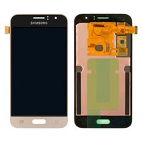 LCD for Samsung J120H Galaxy J1 (2016) Cell Phone, (golden, with touchscreen)