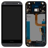 LCD for HTC One M8 mini, One mini 2 Cell Phones, (black, with touchscreen, with front panel)