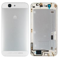 Housing Back Cover for Huawei Ascend G7 Cell Phone, (white, with side button, without SIM card tray)