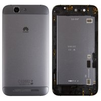 Housing Back Cover for Huawei Ascend G7 Cell Phone, (black, with side button, without SIM card tray)