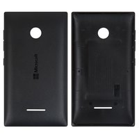 Housing Back Cover for Microsoft (Nokia) 435 Lumia Cell Phone, (black)