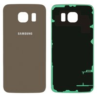 Housing Back Cover for Samsung G920F Galaxy S6 Cell Phone, (golden)