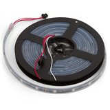 RGB LED Strip SMD5050, WS2811 (black, with controls, IP67, 12 V, 60 LEDs/m, 5 m)