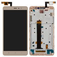 LCD for Xiaomi Redmi Note 3 Cell Phone, (golden, with touchscreen, with front panel)
