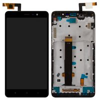 LCD for Xiaomi Redmi Note 3 Cell Phone, (black, original (PRC), with touchscreen, with front panel)