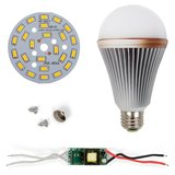 LED Light Bulb DIY Kit SQ-Q24 12 W (warm white, E27), Dimmable