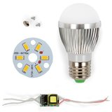 LED Light Bulb DIY Kit SQ-Q01 5730 3 W (warm white, E27), Dimmable