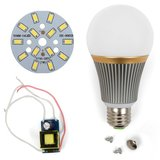 LED Light Bulb DIY Kit SQ-Q23 5730 7 W (cold white, E27), Dimmable