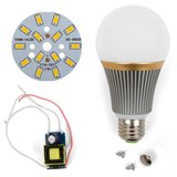 LED Light Bulb DIY Kit SQ-Q23 5730 7 W (warm white, E27), Dimmable