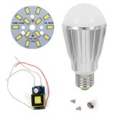 LED Light Bulb DIY Kit SQ-Q17 5730 7 W (cold white, E27), Dimmable