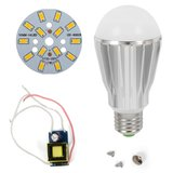 LED Light Bulb DIY Kit SQ-Q17 7 W (warm white, E27), Dimmable