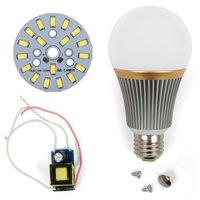 LED Lamp DIY Kit SQ-Q23 9 W (cold white, E27), Dimmable