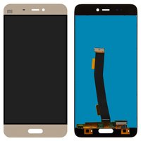 LCD for Xiaomi Mi5 Cell Phone, (golden, original (PRC), with touchscreen)