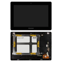 LCD for Lenovo IdeaPad S6000 Tablet, (black, with touchscreen, with frame, (version Wi-Fi)) #BP101WX1-206/MCF-101-0887-V2
