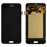 LCD for Samsung J320H/DS Galaxy J3 (2016) Cell Phone, (black, with touchscreen, Original (PRC), dragontrail Glass, original glass)