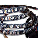 RGB LED Strip SMD5050, WS2813 (with controls, black, IP67, 5 V, 60 LEDs/m, 5 m)