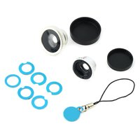Replaceable Magnet IP Camera Lens Kit (Wide-Angle, Macro, Fish Eye)
