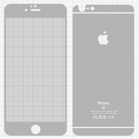 Tempered Glass Screen Protector All Spares for Apple iPhone 6 Plus, iPhone 6S Plus Cell Phones, (0,26 mm 9H, front and back, silver)
