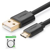 USB Data Cable UGREEN, (USB type-A, micro USB type-B, 100 cm, 2 A, black) #6957303818365>