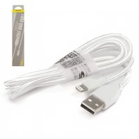 USB Data Cable Awei CL-981, (USB type-A, Lightning for Apple, 100 cm, white)