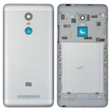 Battery Back Cover for Xiaomi Redmi Note 3i Pro SE Cell Phone, (silver, black, original (PRC), with side button)