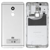 Battery Back Cover Xiaomi Redmi Note 4, Redmi Note 4X, (silver, Original (PRC), with side button, MediaTek)>
