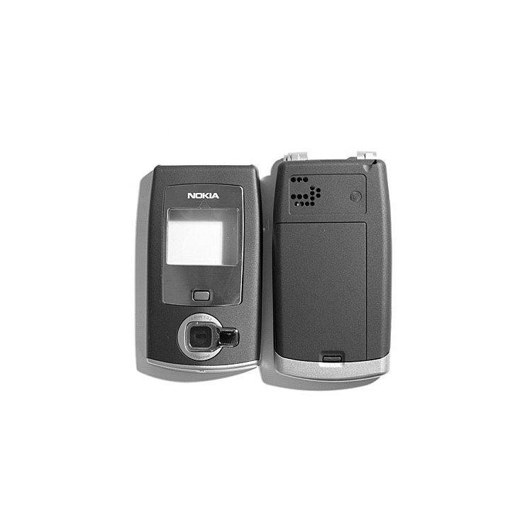 Корпус для сотового телефона Nokia N71, копия ААА, серый.