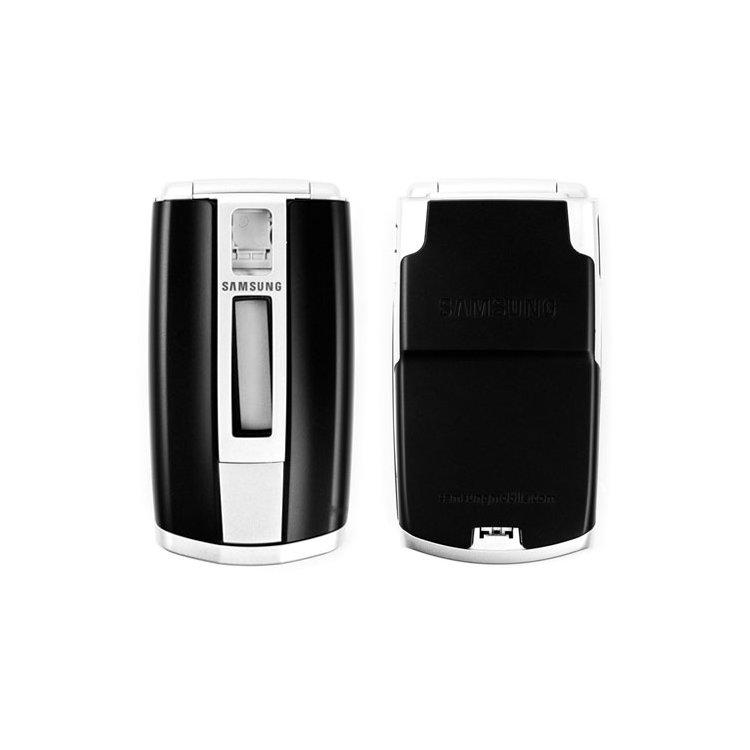 Корпус для сотового телефона Samsung E490, копия ААА, серебристый.