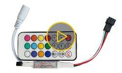 Відеоогляд контролера для SMART-стрічок з ІЧ-пультом LED2017-IR