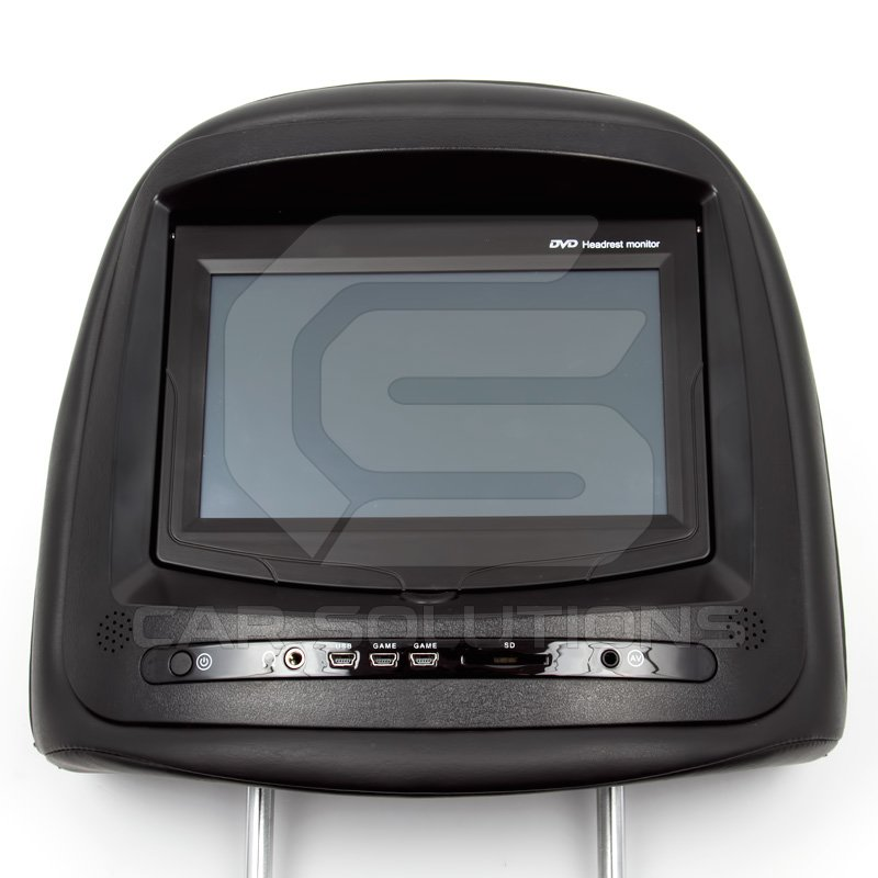7 car headrest tft lcd touchscreen monitor with dvd. Black Bedroom Furniture Sets. Home Design Ideas