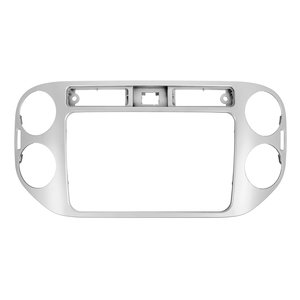Radio Trim Plate for VW Tiguan 2013-14 MY for RCD510, RNS510, RCD310, RNS310, RNS315 (silver)