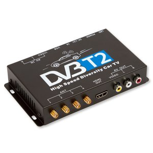 Car DVB-T2 TV Receiver with 4 Antennas