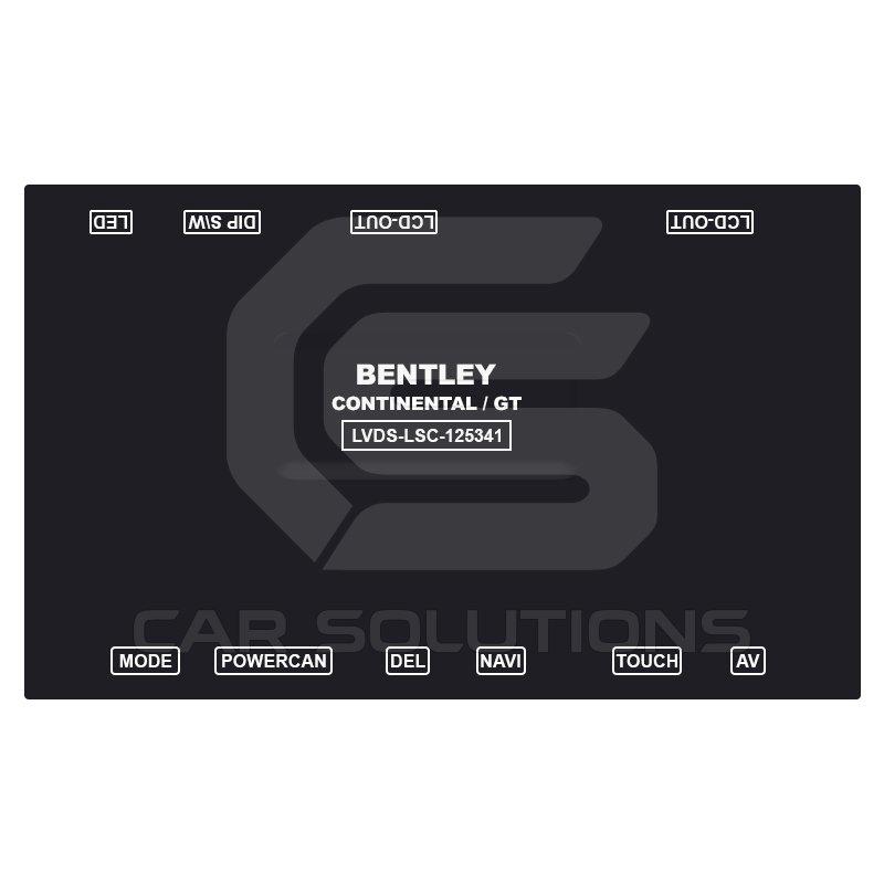 видеоинтерфейс для автомобилей bentley