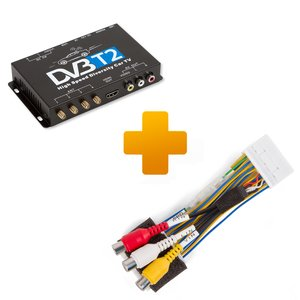 DVB-T2 TV Receiver and Connection Cable Kit for Toyota Citroen Peugeot X-Touch/X-Nav Monitors