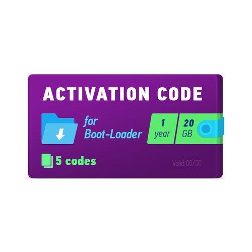 Boot-Loader 2.0 Código de activación (1 año, 5 códigos x 20 GB)