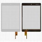 """Cristal táctil puede usarse con China-Tablet PC 7,85""""; Modecom FreeTab 7800 IPS, 7,85"""", 133 mm, 197 mm, 6 pin, capacitivo, blanco, #E-C8051-04/078043-01A-V1/CTP078048-01/YCF0412-8"""