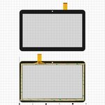 "Cristal táctil China-Tablet PC 10,1""; Bravis NB106 3G, NB107 3G; Digma  Optima 10.4 3G, Optima 1200t 3G, 10,1"", 155 mm, 247 mm, 51 pin, capacitivo, negro, #YLD-CEGA566-FPC-A0/YLD-CEGA563-FPC-A0/YLD-CEGA565-FPC-A0/YLD-CEGA617-FPC-A0"