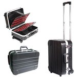 Heavy-duty ABS cases Pro'sKit TC-311 with wheels and telescoping handle