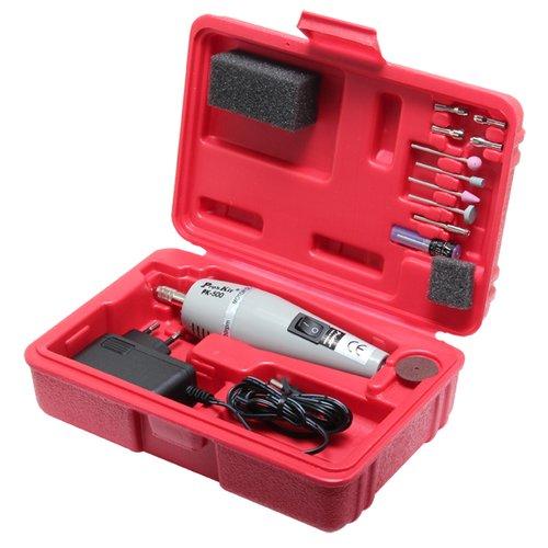 Дрель мини профессиональная с насадками Код: 058362 Артикул: 1PK-500B-2.  Pro'sKit Дрель, адаптер постоянного тока.